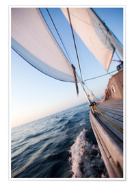 Póster Premium  Sailing in Sunrise
