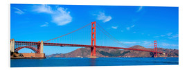 Quadro em PVC  panoramic view of Golden Gate Bridge
