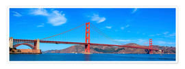 Póster Premium  panoramic view of Golden Gate Bridge
