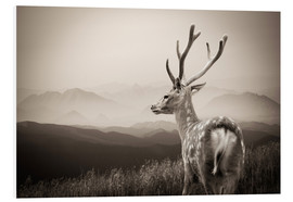 Quadro em PVC  Stag in the mountains