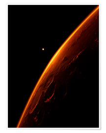 Póster Premium  The red planet