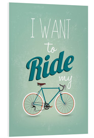 Quadro em PVC  I want to ride my bike - Typobox