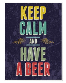 Póster Premium  Keep calm and have a beer - Typobox