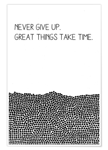 Póster Premium Never Give Up
