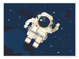 Póster Premium  Hello, little astronaut - Kidz Collection