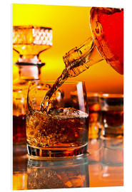 Quadro em PVC  glass with whiskey and ice