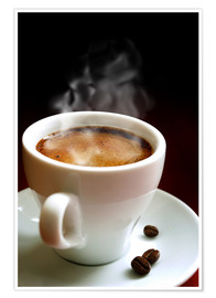 Póster Premium cup of hot coffee