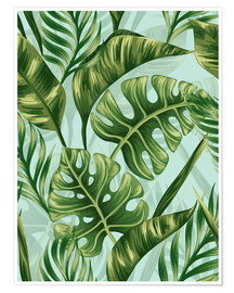 Póster Premium  Monstera Leaves