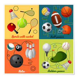 Póster Premium  Do some sports - Kidz Collection