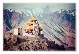Póster Premium  Monastery in the Himalayas