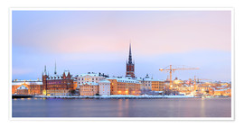 Póster Premium  Panoramic cityscape of Stockholm, Sweden