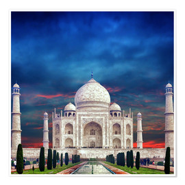 Póster Premium  Taj Mahal in India