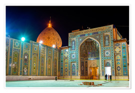 Póster Premium  Shah Cheragh, a funerary monument and mosque in Shiraz, Iran