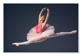 Póster Premium pink tutu and pointe shoes