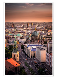 Póster Premium  Berlin Evening Mood - Sören Bartosch