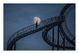 Póster Premium Stairway to the moon