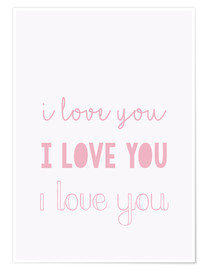 Póster Premium  I love you pastel - Finlay and Noa