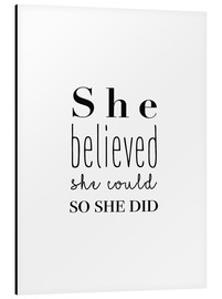 Quadro em alumínio  She Believed She Could... - Finlay and Noa