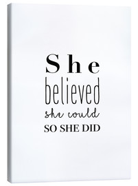 Quadro em tela  She Believed She Could... - Finlay and Noa
