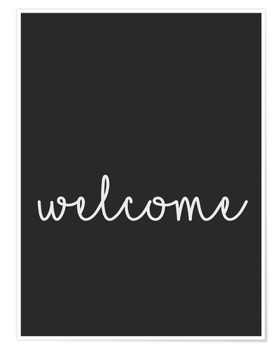 Póster Premium Welcome