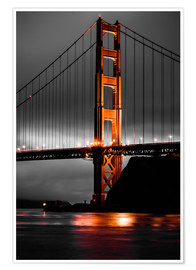 Póster Premium  Golden Gate - Denis Feiner