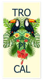Póster Premium  new tropic BIRDS - Mark Ashkenazi