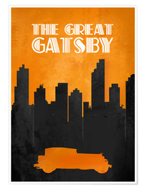 Póster Premium The Great Gatsby - Minimal Movie Film Fanart Alternative