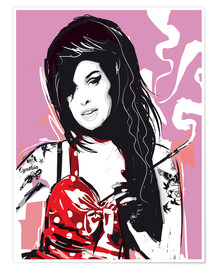 Póster Premium  Amy Winehouse - 2ToastDesign
