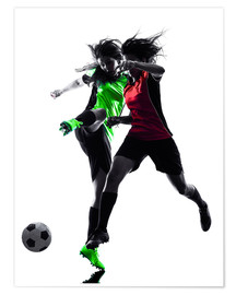 Póster Premium  two soccer players