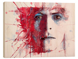 Quadro de madeira  The prettiest star: David Bowie - Paul Lovering Arts