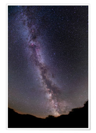 Póster Premium  The summer Milky Way in southern Alberta, Canada. - Alan Dyer