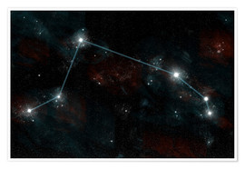 Póster Premium  Artist's depiction of the constellation Aries the Ram. - Marc Ward