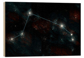 Quadro de madeira  Artist's depiction of the constellation Aries the Ram. - Marc Ward
