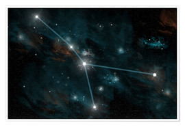 Póster Premium  An artist's depiction of the constellation Cancer. - Marc Ward