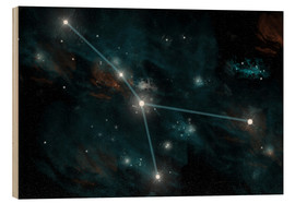 Quadro de madeira  An artist's depiction of the constellation Cancer. - Marc Ward