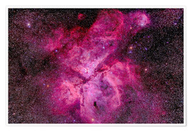 Póster Premium The Carina Nebula in the southern sky
