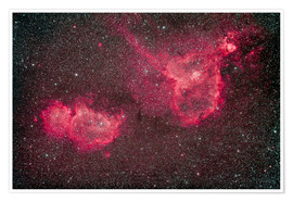 Póster Premium The Heart and Soul Nebula