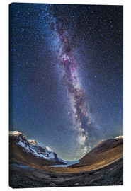Quadro em tela  Milky Way over the Columbia Icefields in Jasper National Park, Canada. - Alan Dyer