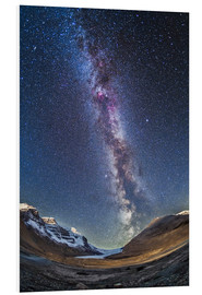 Quadro em PVC  Milky Way over the Columbia Icefields in Jasper National Park, Canada. - Alan Dyer