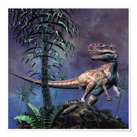 Póster Premium  Monolophosaurus was a theropod dinosaur from the Middle Jurassic period. - Philip Brownlow