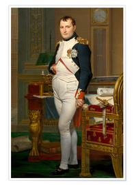 Póster Premium  Vintage painting of The Emperor Napoleon in his study. - John Parrot