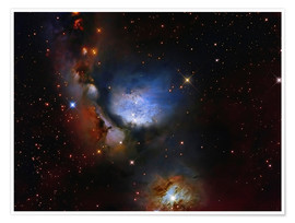 Póster Premium Messier 78, a reflection nebula in the constellation Orion.