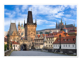Póster Premium  Prague Castle and Old Town in summer - Jan Christopher Becke