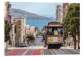 Quadro em acrílico  Cable car on a hill in the streets of San Francisco, California, USA - Matteo Colombo