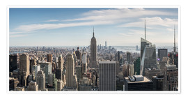Póster Premium  Manhattan skyline with Empire State Building - Matteo Colombo