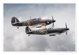 Póster Premium BBMF SPit and Hurry