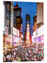 Quadro em acrílico  Times square at night illuminated by neon lights, New York city, USA - Matteo Colombo