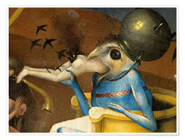 Póster Premium  Garden of Earthly Delights, Hell (detail) - Hieronymus Bosch