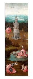 Póster Premium The Last Judgement, the earthly paradise
