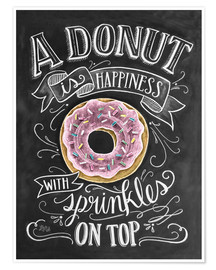 Póster Premium  A Donut is Happiness - Lily & Val